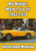 MG Midget Mark 1, 2 and 3 Workshop Manual
